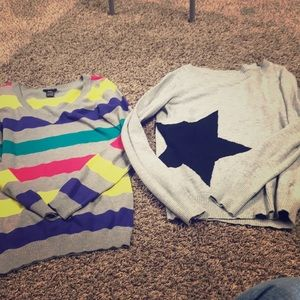 Sweaters - Two junior girls sweater size small